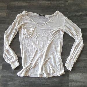 White Thin Kain Long Sleeve